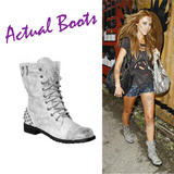 Side Zip Studded Grunge Boots